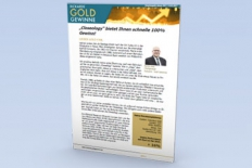Jim Rickards´ Gold Gewinne